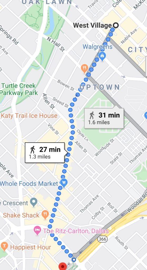 Uptown Walking path